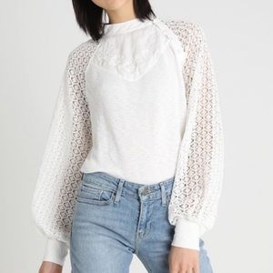 Free People Sweetest Thing Thermal White Top